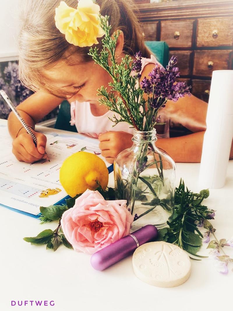 Konzentrationprobleme bei Kindern mit Düften verbessern